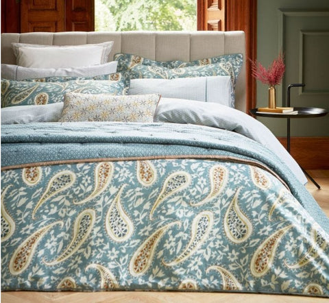 Bedeck of Belfast Harita Soft Teal Bedding