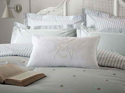 Sophie Allport Bee White 30cm x50cm Feather Filled Cushion