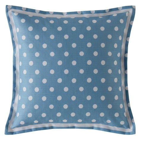 Cath Kidston Button Spot Blue 40cm x 40cm Polyester Filled Cushion
