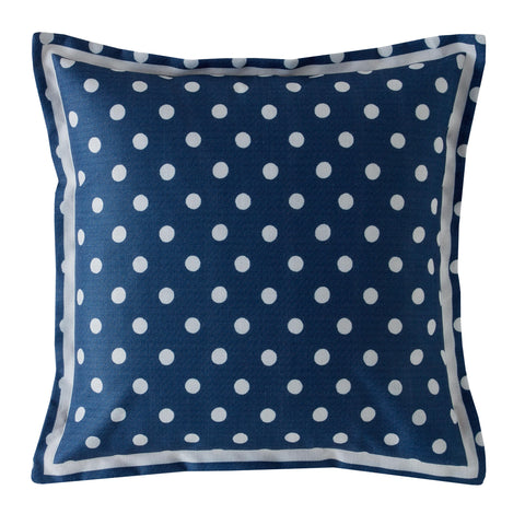 Cath Kidston Button Spot Navy 40cm x 40cm Polyester Filled Cushion