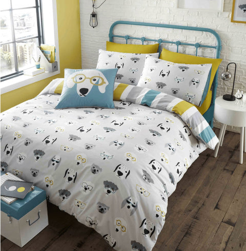Catherine Lansfield Cool Dogs Grey Duvet Set