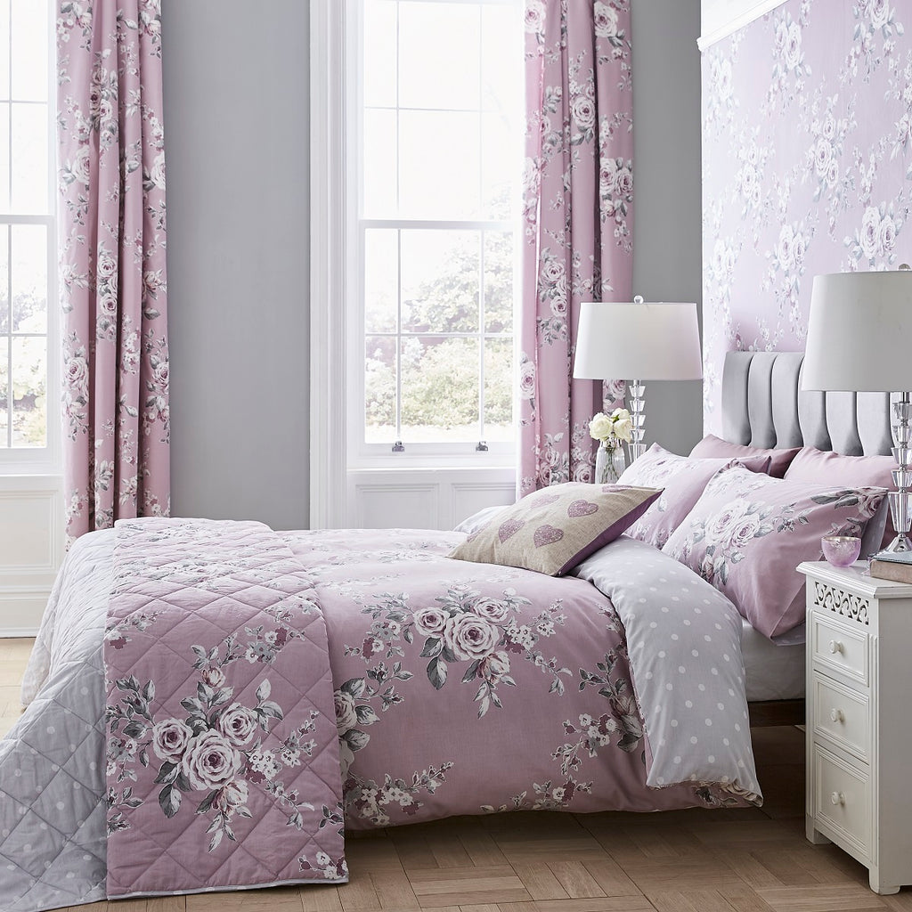 Catherine Lansfield Canterbury Heather Quilt Set