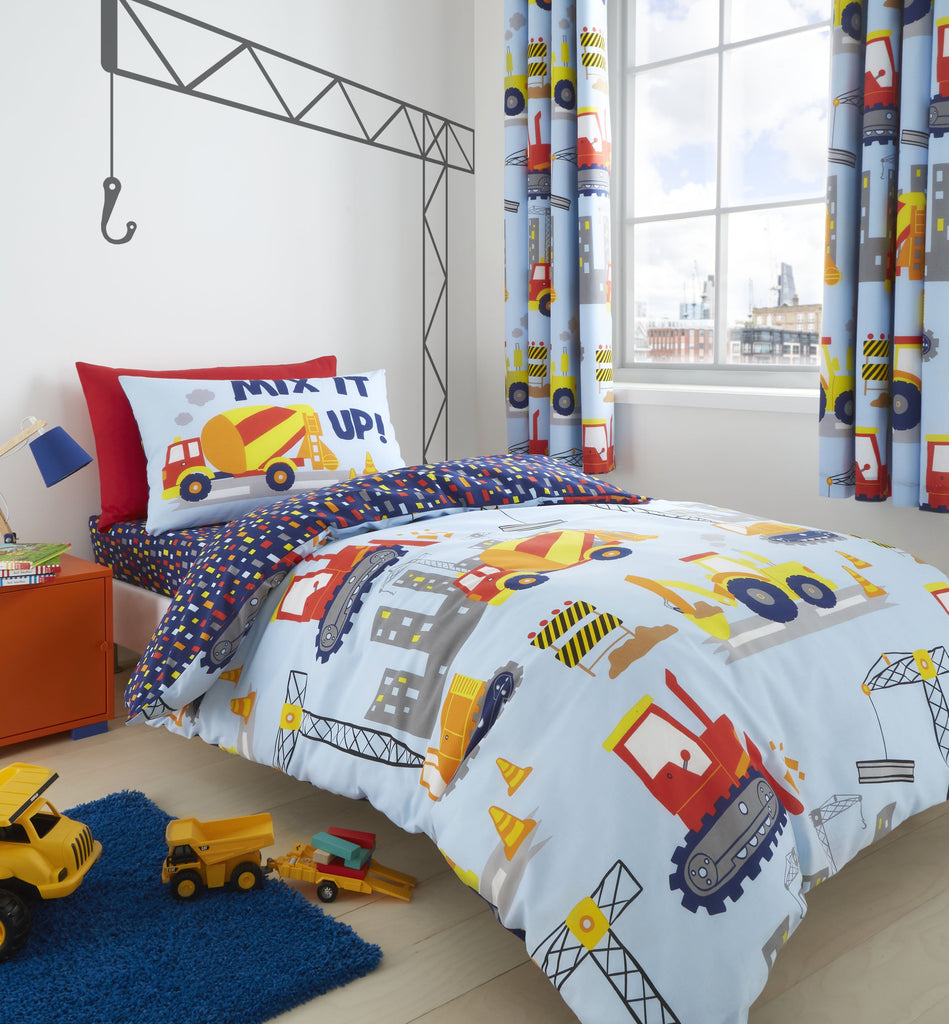 Catherine Lansfield Kids Construction Blue Bedding