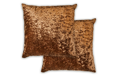 "The Dorchester Collection Crushed Velvet 17"" x 17"" Cushion"