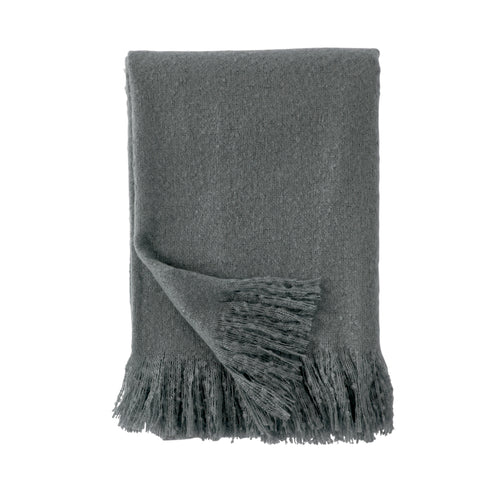DKNY Faux Mohair Throw Grey 127cm x 178cm