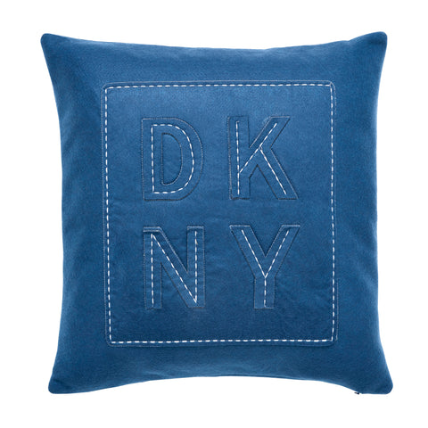 DKNY Felt Logo 45cm x45cm Fibre Filled Cushion
