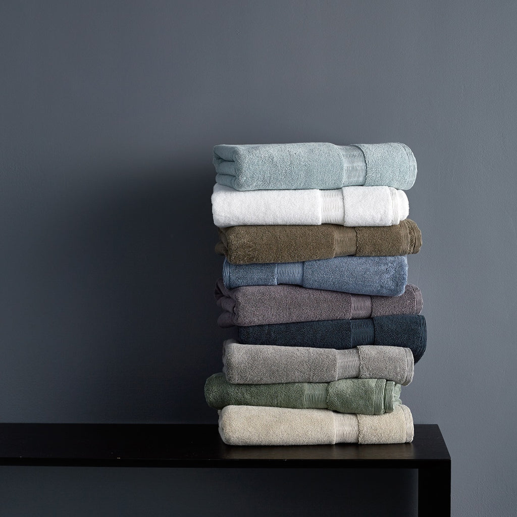 Dkny Mercer 800gsm 100 Cotton Grey Stone Towels Charmed Interiors