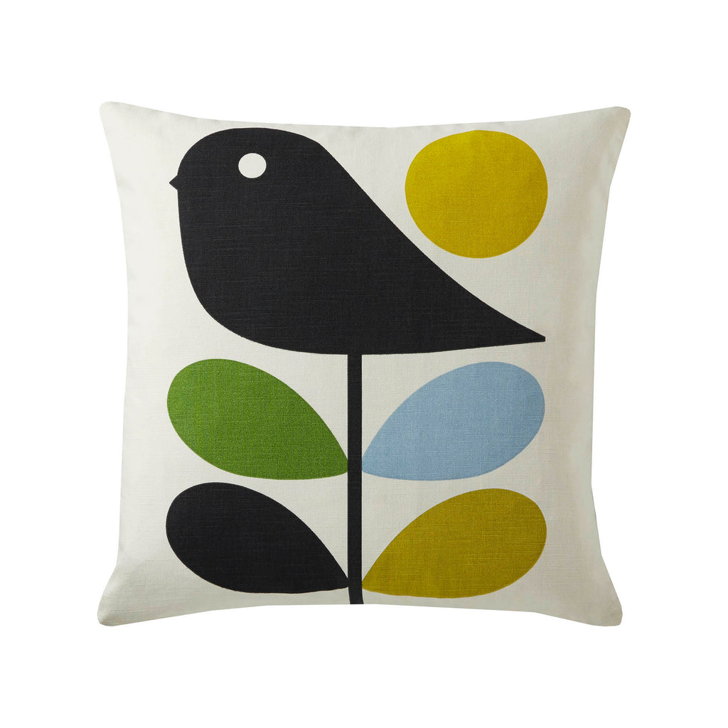 Early Bird Duck Egg 45cmx45cm Feather Filled Cushion by Orla Kiely