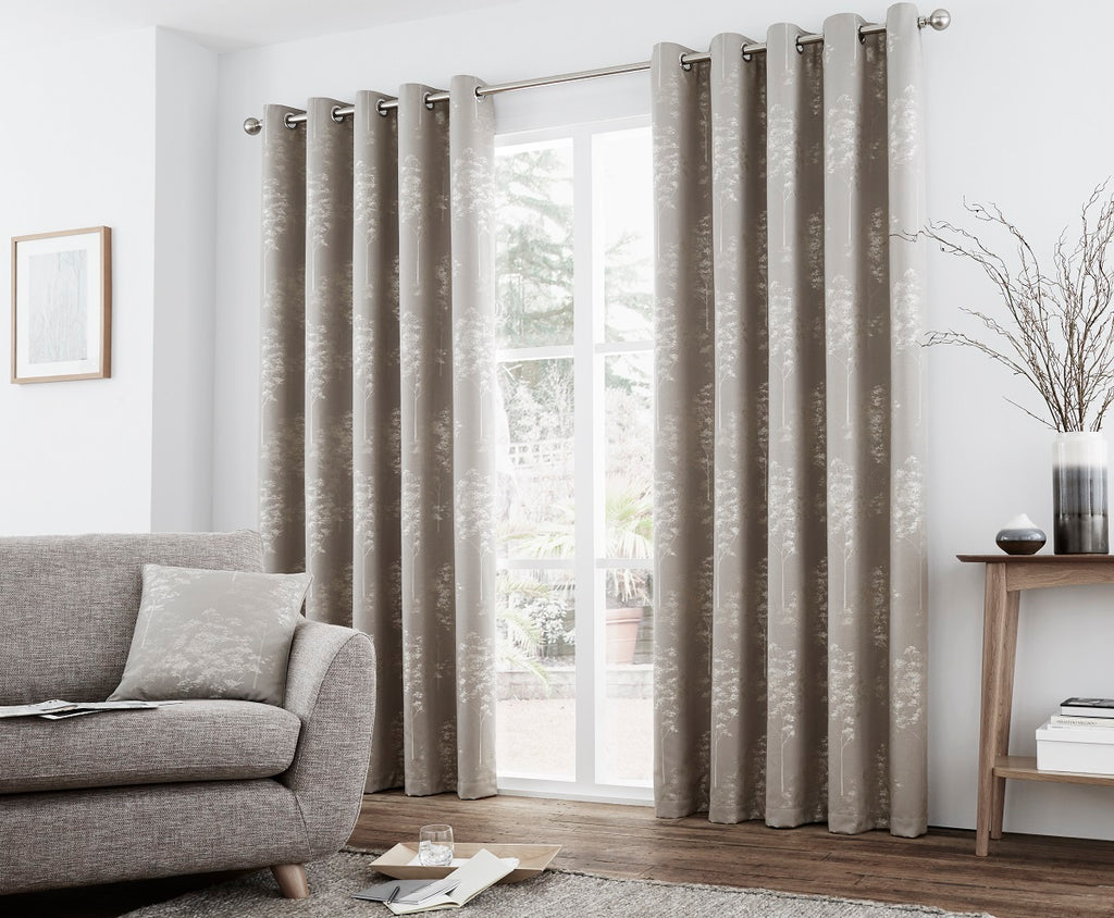 Curtina Elmwood Eyelet Lined Curtains