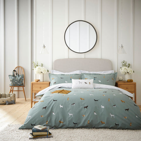Sophie Allport Fetch Moss Quilt Set