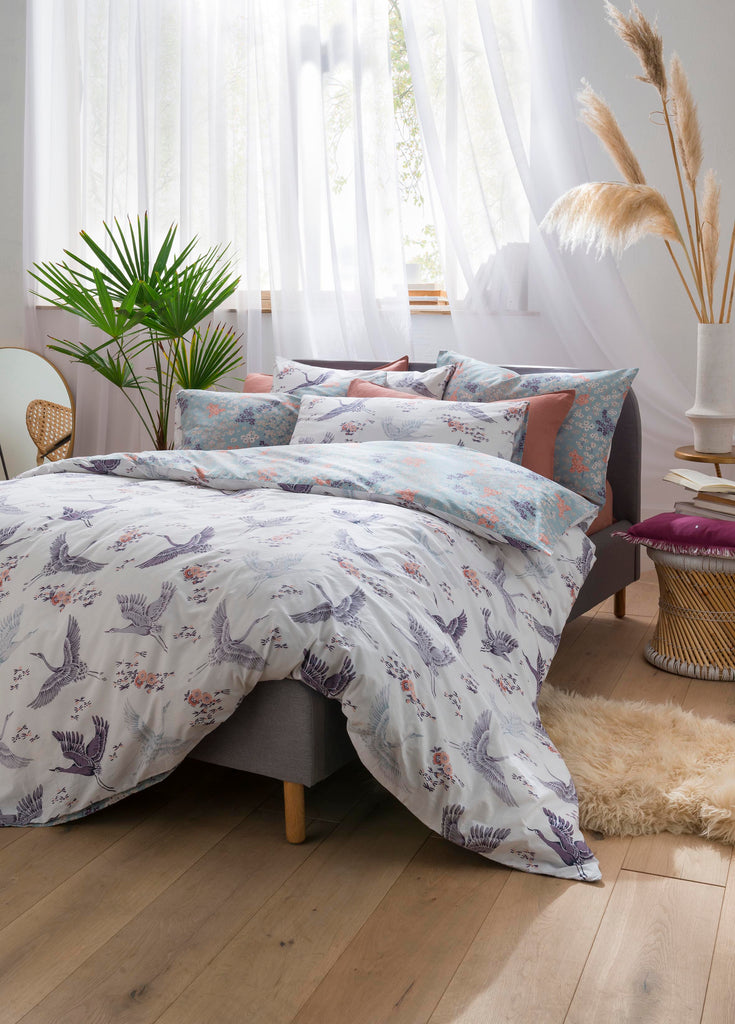 Fat Face Floral Flight Iris Quilt Set