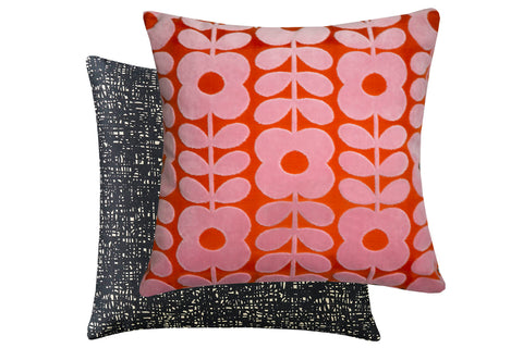 Orla Kiely Flower Stem Velvet 50cm x 50cm Feather Filled Cushion