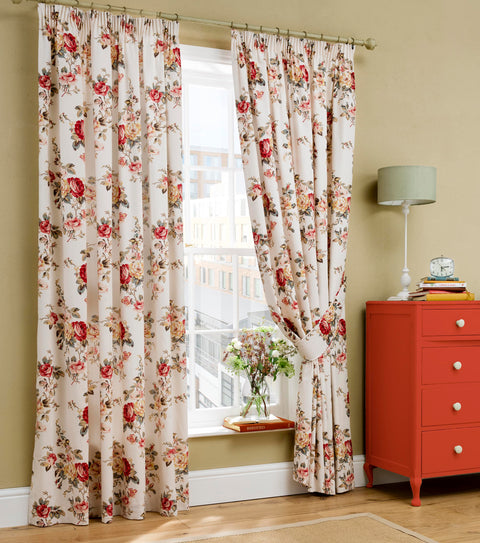 Cath Kidston Garden Rose Multi Lined Curtains