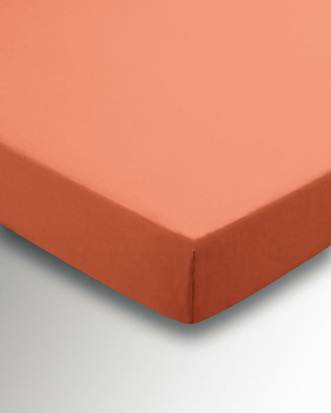 Helena Springfield Poly/Cotton Percale 180 Thread Count Coral Sheets