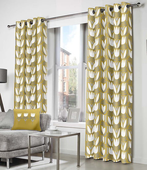 Fusion Haldon Eyelet Lined Curtains