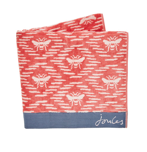 Joules Bee Geo Coral 100% Combed Cotton Towels