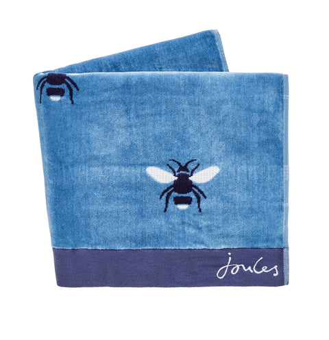 Joules Botanical Bee Pale Blue Towels