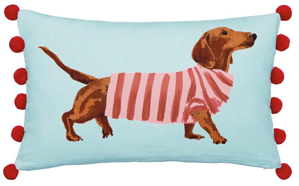 Joules Heritage Falmouth Dogs Blue 30cm x 50cm Cushion