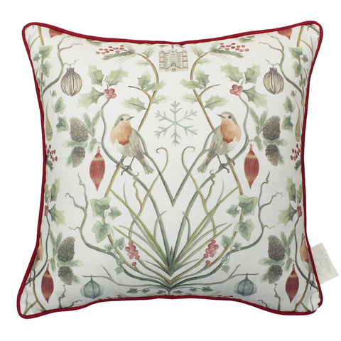 The Chateau Collection Joyeux Noel 43cm x43cm Feather Filled Cushion by Angel Strawbridge