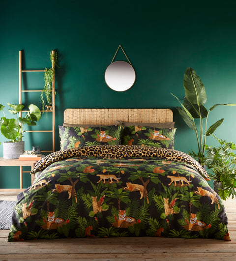 Portfolio Home Jungle Cats Multi Duvet Set