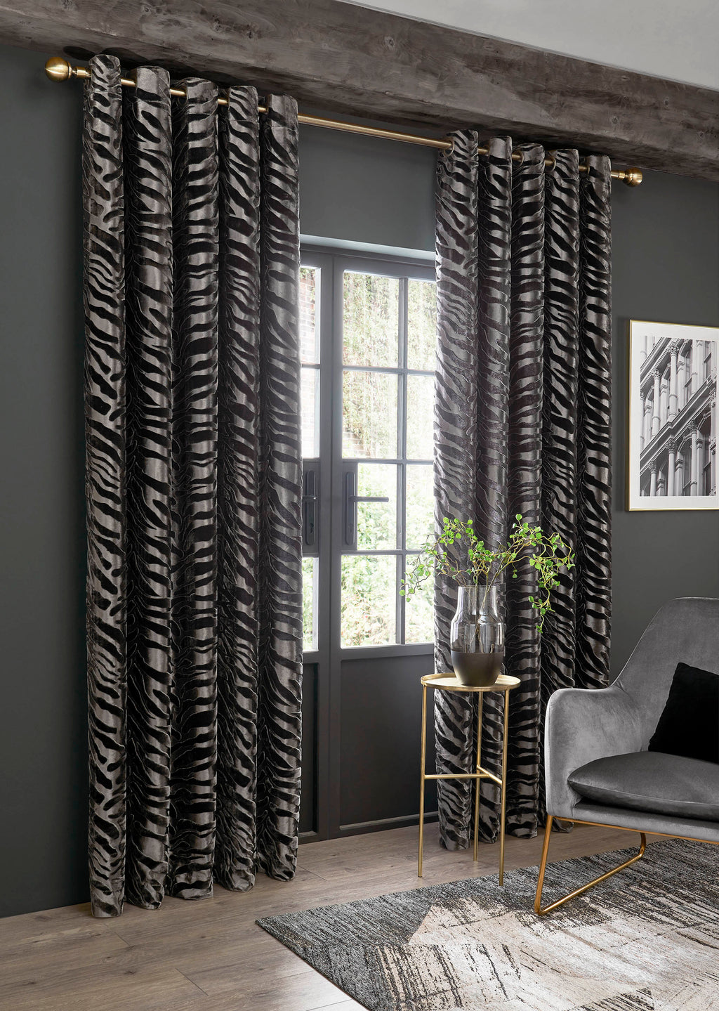 Ashley Wilde Jovan Lined Eyelet Curtains (ORDER ONLY)