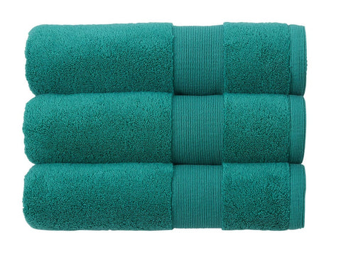 Kingsley Carnival 100% Cotton 650gsm Emerald Towels