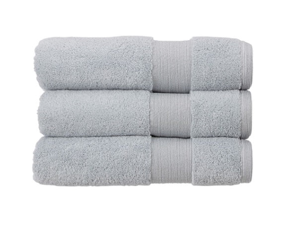Kingsley Carnival 100% Cotton 650gsm Silver Towels