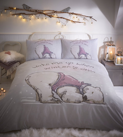 Portfolio Home Christmas Lazy Bears Duvet Set