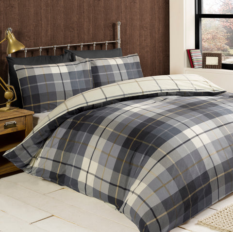 Rapport Lomond 100% Brushed Cotton Duvet Set