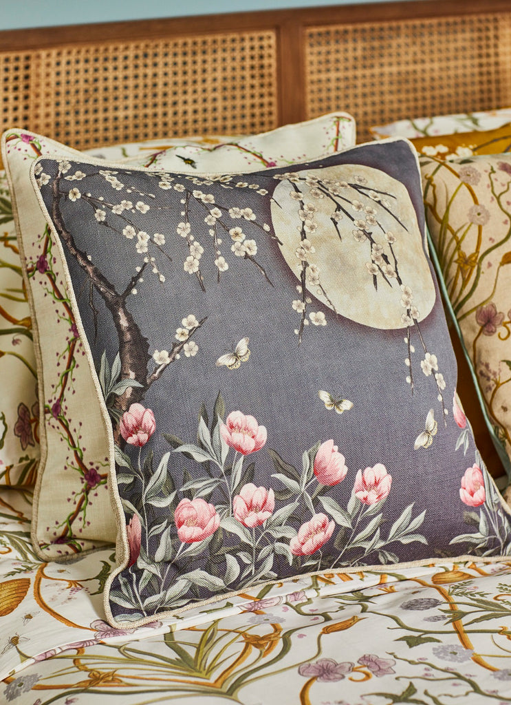 The Chateau Collection Moonlight Midnight Blue 45cm x 45cm Cushion by Angel Strawbridge