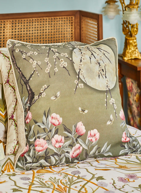 The Chateau Collection Moonlight Moss Green 45cm x 45cm Cushion by Angel Strawbridge