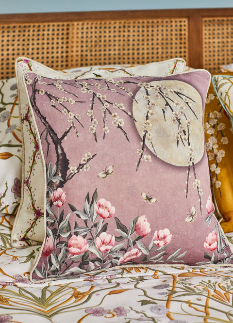 The Chateau Collection Moonlight Rose Dawn 45cm x 45cm Cushion by Angel Strawbridge
