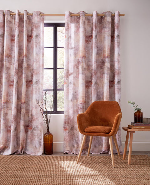 Voyage Monet Eyelet Lined Curtains