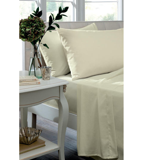 Catherine Lansfield Non Iron So Soft Percale Cream Sheets