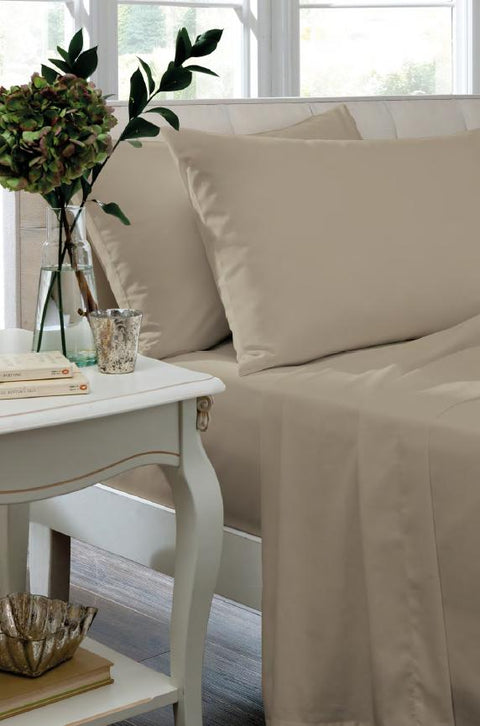 Catherine Lansfield Non Iron So Soft Percale Natural Sheets
