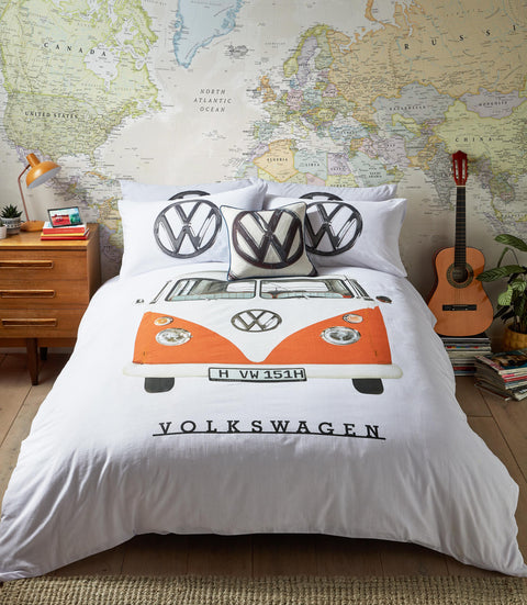 VW Orange Campervan Bedding