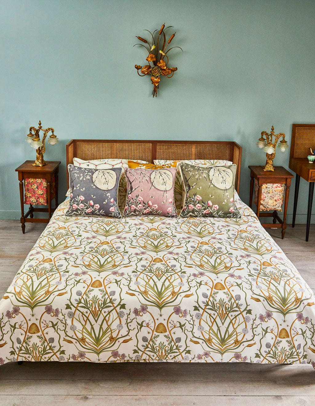 The Chateau Collection Potagerie Cream Quilt Set by Angel Strawbridge
