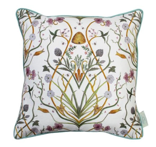 The Chateau Collection Potagerie Cream 43cm x 43cm Feather Filled Cushion by Angel Strawbridge