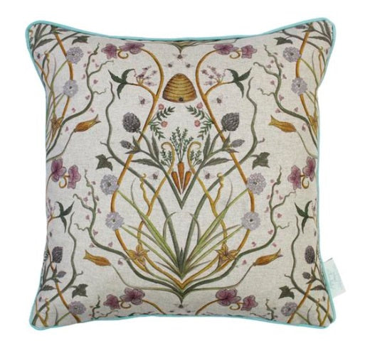 The Chateau Collection Potagerie Linen 43cm x 43cm Feather Filled Cushion by Angel Strawbridge