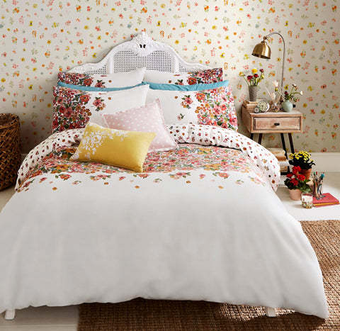 Cath Kidston Painted Bloom Warm Cream Flannelette/Brushed Cotton Bedding