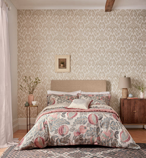 Sanderson Cantaloupe Blush and Dove Bedding