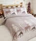 Portfolio Home Christmas Starlight Forest Flannelette Duvet Set