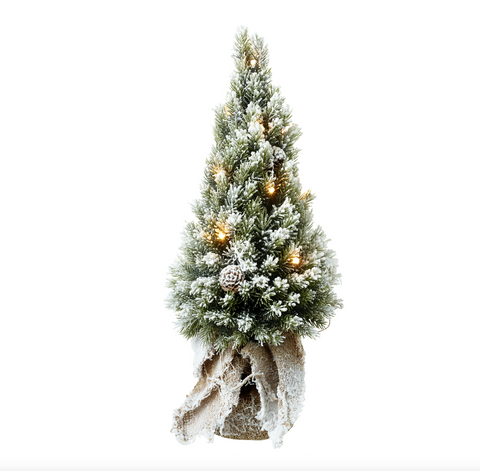Heaven Sends JJJ017 Light up Fir tree with Hessian Base
