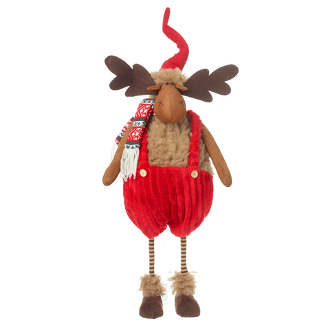 Heaven Sends QZL076 Tall Moose in Red Dungarees