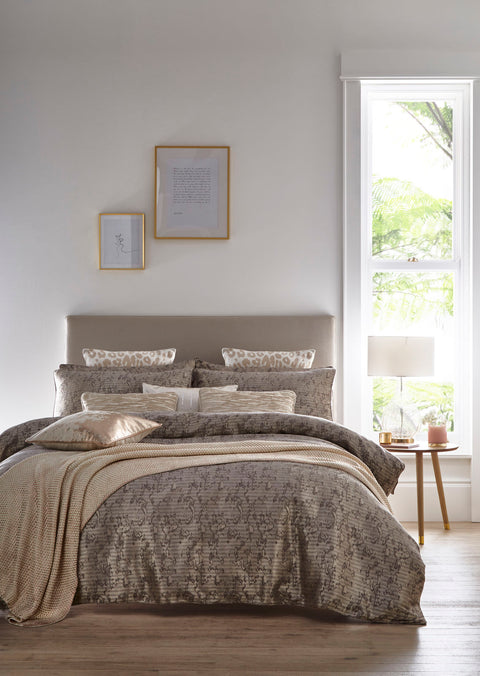 Tess Daly Lux Natural Duvet Set