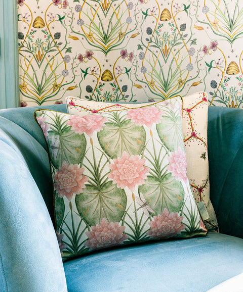 The Chateau Lily Garden Cushion Collection