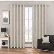 Tyrone Bondi Blockout Eyelet Curtains (ORDER ONLY)