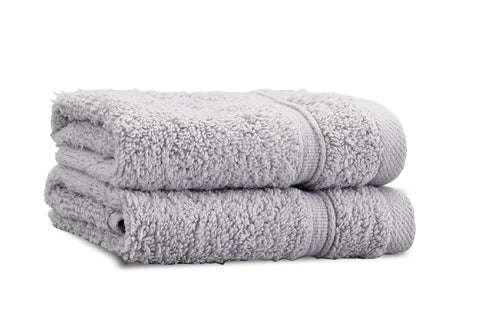 Catherine Lansfield Zero Twist 100% Cotton 450gsm Silver Towels