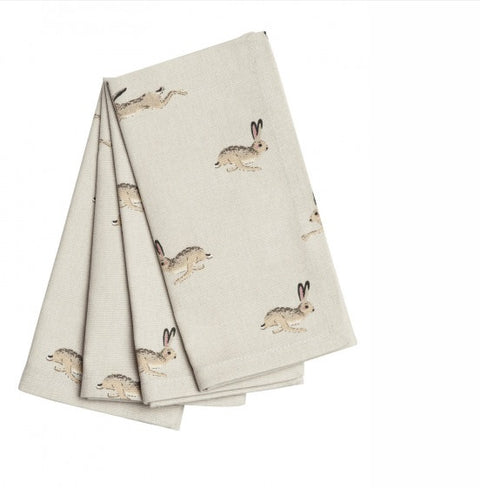 ALL25300 Sophie Allport Napkins Set Of 4 Hare