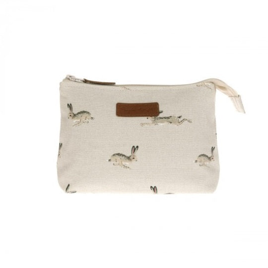 ALL25510 Sophie Allport Canvas Makeup Bag Small Hare